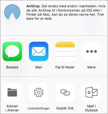Skærmbillede af knappen Gem fotoet i OneDrive-appen på iOS