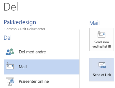 Sende mails til teamet