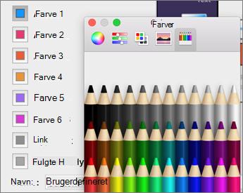 Klik på en farve