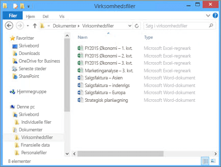 Vælg Gennemse for at gå til den fil på computeren, som du vil overføre til teamwebstedet.