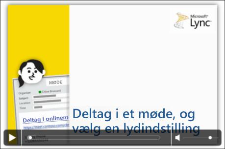 Skærmbillede af en PowerPoint-slide med videokontrolelementer