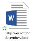 Ikon for OneDrive-synkronisering i gang