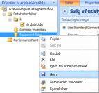 Indstillingen Gem datakilde i arbejdsområdebrowseren i brugergrænsefladen i dashboarddesigner.