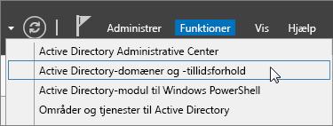 Vælg Active Directory-domæner og -tillidsforhold.