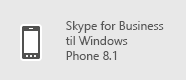 Skype for Business – Windows Phone