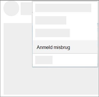 Skærmbillede af hvordan du rapporterer misbrug i OneDrive