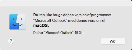 """Fejl: """"Du kan ikke bruge denne version af programmet"""""""