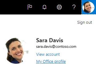 Min Office-profil i Delve