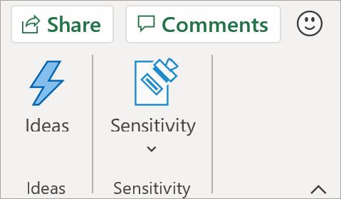 Send feedback direkte fra Excel-appen.