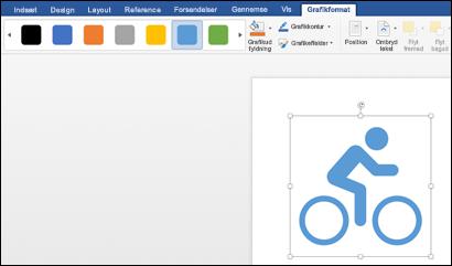 Typografigalleriet med en lys blå typografi anvendt på et billede af en cykler