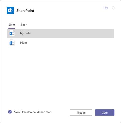 SharePoint faneblade