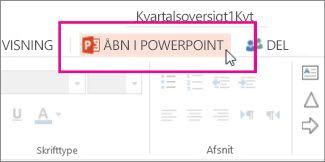 Åbn i PowerPoint på computeren