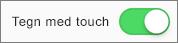 Viser indstillingen Tegn med Touch i Office 2016 til iPad