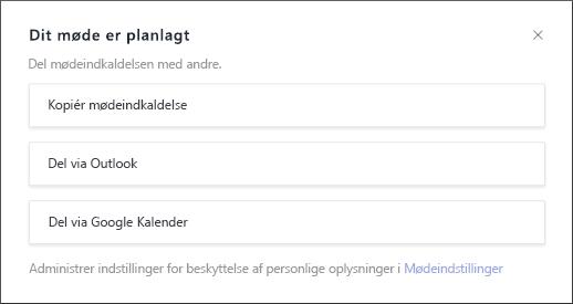 Dit møde er planlagt skærm