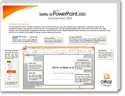 Miniature for Vejledning i at skifte til PowerPoint 2010