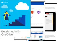 Et miniaturebillede af webdelen Kom i gang med OneDrive-e-bog.
