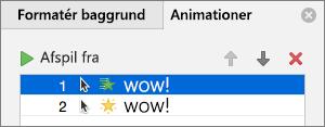 Angiv animationsindstillinger i ruden Egenskaber