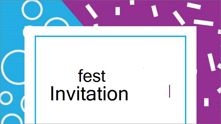 Skabelon for fest invitation