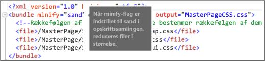 Skærmbillede af formindskelse af flag indstillet til sand