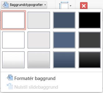 Menuen Baggrundstypografi i PowerPoint til Mac