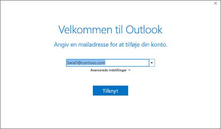 Velkommen til Outlook