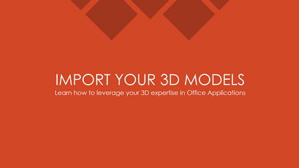 Skærmbillede af titelsliden på en 3D-PowerPoint-skabelon