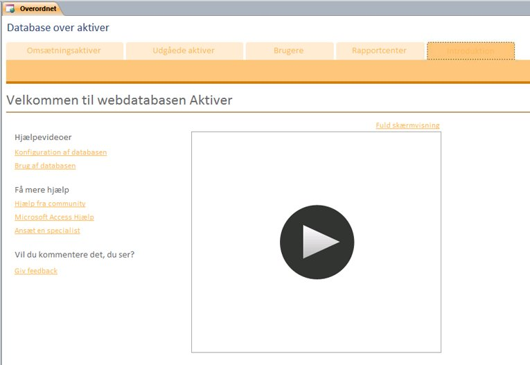 Webdatabase over aktiver