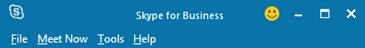 Toppen af samtalevinduet i Skype for Business