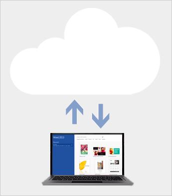 Gemme og dele filer i skyen