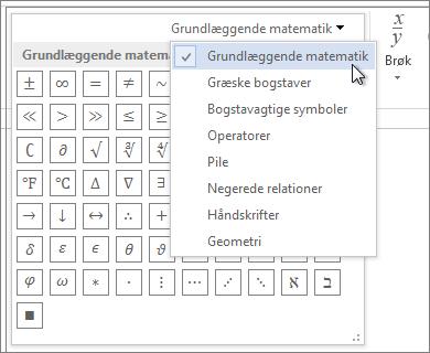 Grundlæggende matematiske symboler