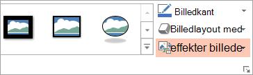 Viser knappen Billedlayout under fanen Formatér