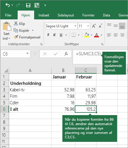 Bruge Excel som regnemaskine - Excel