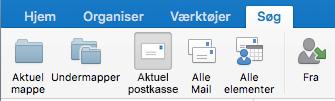 Søg i den aktuelle postkasse