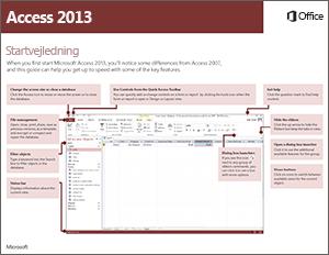 Startvejledning til Access 2013