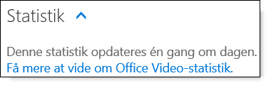 Office 365 Video Statistics