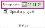 Angiv statusdato for et projektbillede