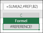 Excel viser fejlen #REF!, når en cellereference ikke er gyldig