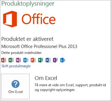 Installation af Excel MSI
