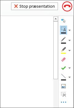 Skærmbillede af whiteboard i et møde