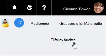 Føj en opgave til en bucket