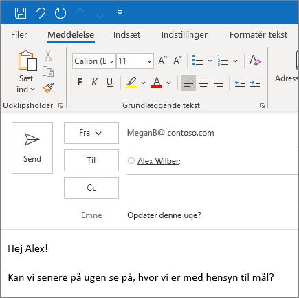 Opret og send en mail