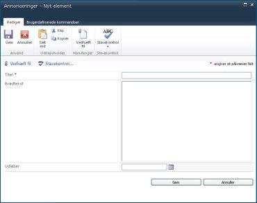 SharePoint Designer-formularer
