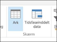 Visningen Tidsfaseinddelt data