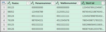Hent og transformér > Konvertér data til tekst