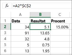 Multiplicere tal med en procentdel