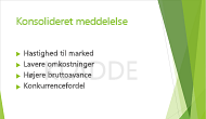 """Eksempel på et tekstvandmærke, """"KLADDE,"""" brugt som baggrund på en PowerPoint-slide."""
