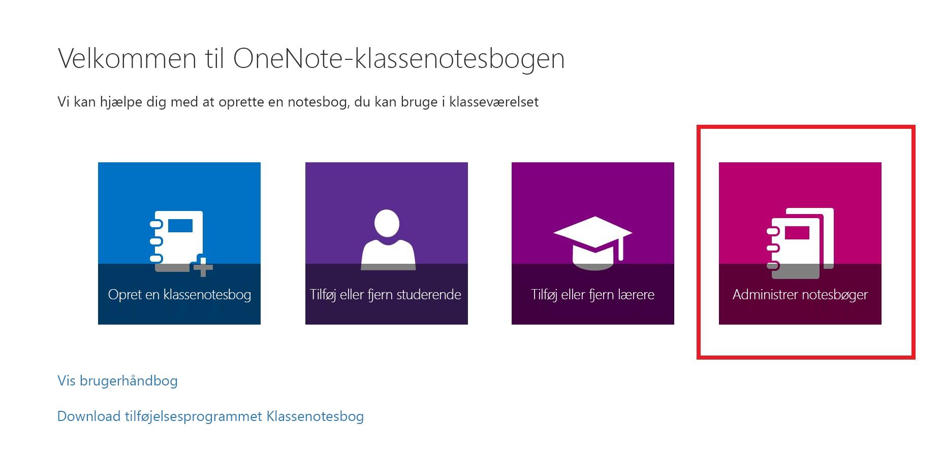 Skærmbillede af ikonet for Notesboglister.
