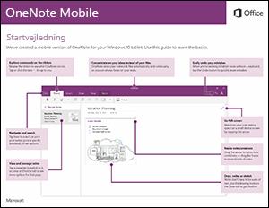 Startvejledning til OneNote Mobile