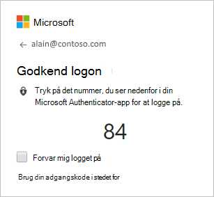 Godkend logonfelt på computer