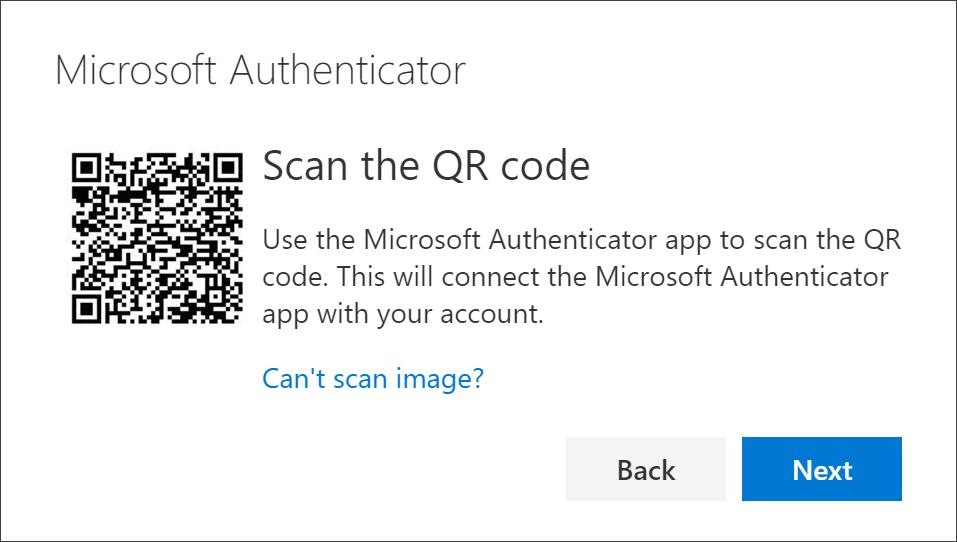Scan QR-koden ved hjælp Authenticator appen